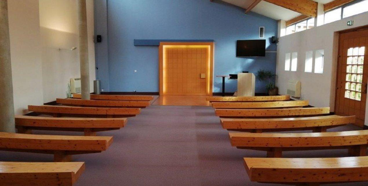 Photo de la salle de recueillement du crématorium de la Vienne à Poitiers