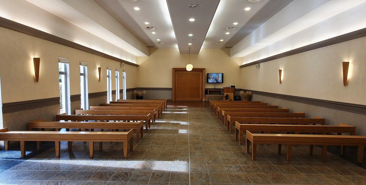 Photo de la salle de recueillement du crématorium du Pays d'Eure à Evreux